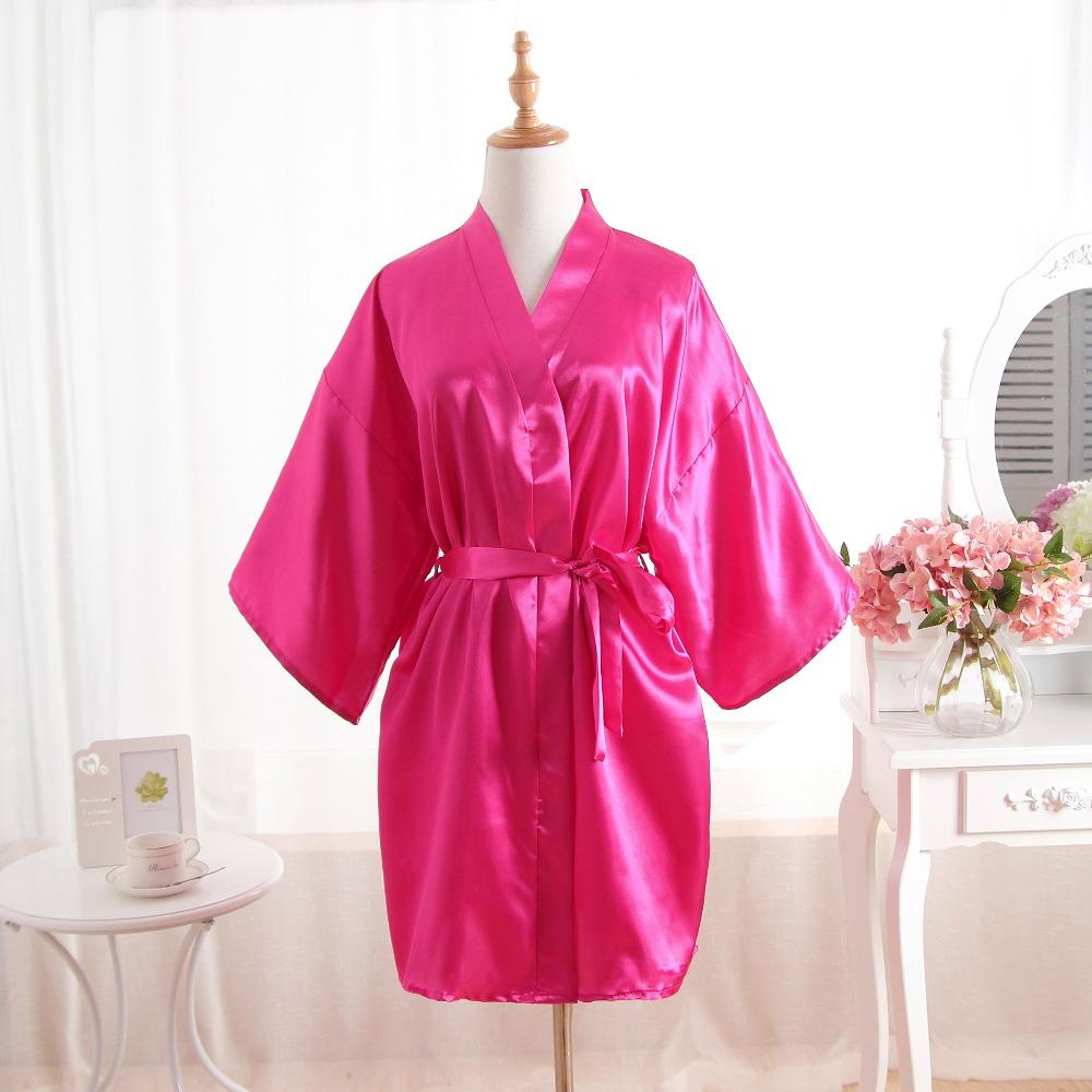 2019 Vintage Ladies  Satin Short Nightgown Sleepwear Chinese Women ... 3fa93045c