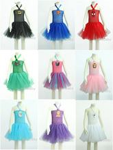 superhero girl costume Purple/White/Pink/Black Tutu Dress With Headband Birthday Sets For Baby Girls costume