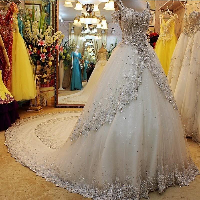 diamond top wedding dress - photo #14