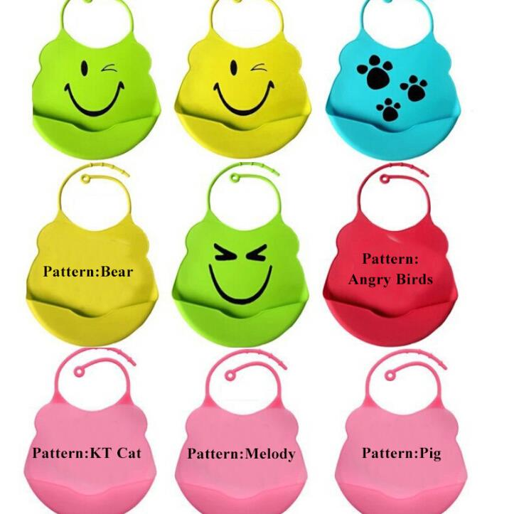 iMucci Waterproof Bibs Infant Baby Silicone Feeding Saliva Towel Kid Washable BB Bib Crumb Catcher Cute