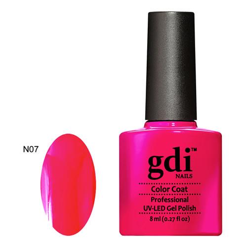 Why Does Neon Nail Polish Chip: N07 Hot Diva GDI Nails Hot Pink Neon UV LED Soak Off Gel