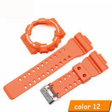 Силиконовый ремешок для Casio GA-110 GA100 GD-120 высококачественный резиновый ремешок для часов с чехлом для часов для мужчин женские часы(Китай)