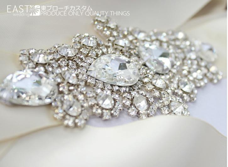 Unique Wedding Dress Sashes Belts: Free Shipping High End Custom Wedding Diamond Belt/Bridal