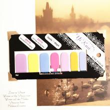 Bright Colorful Lovely Nail Arts Sticker 14 pcs set Waterproof Nail Decal Art Sticker Gel Polish
