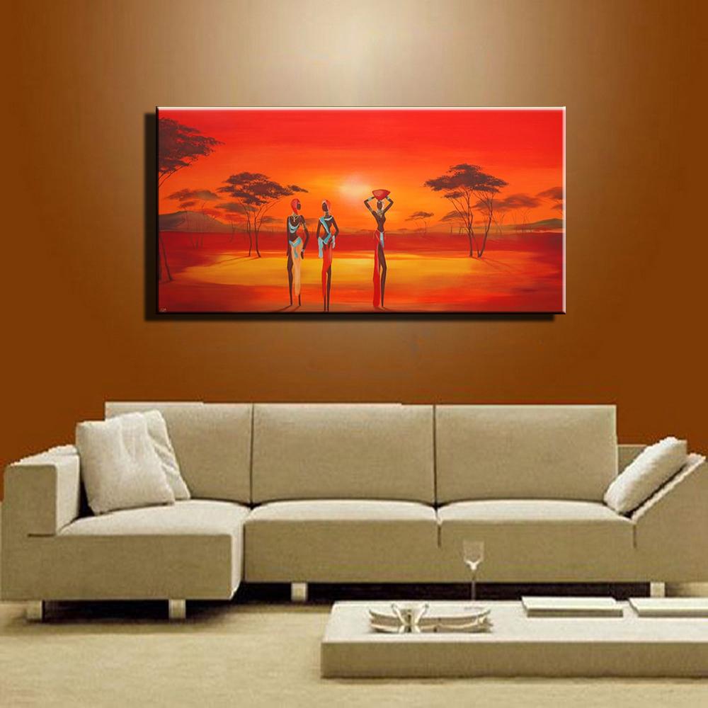 online kaufen gro handel african art paintings aus china african art paintings gro h ndler. Black Bedroom Furniture Sets. Home Design Ideas