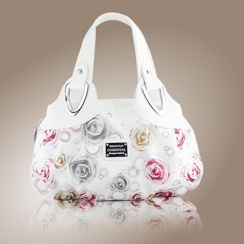 new 2016 fashion print women handbag floral Women messenger bags shoulder Bags handbags casual bag Q0