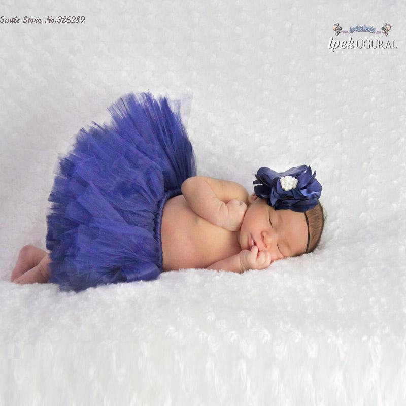 16 colors Newborn photography props girls skirt photo props tutu skirt sets flower headband baby photos
