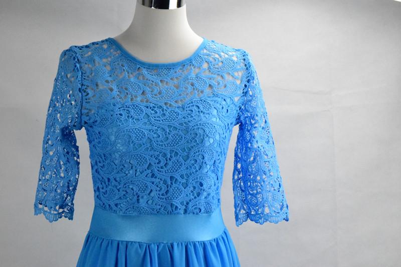 Damenmode Kleider Sommer Kleid Rosa Oder Blau S M L Xl Mit Elastischer Spitze Knielang Neu 450 Waren Jeder Beschreibung Sind VerfüGbar