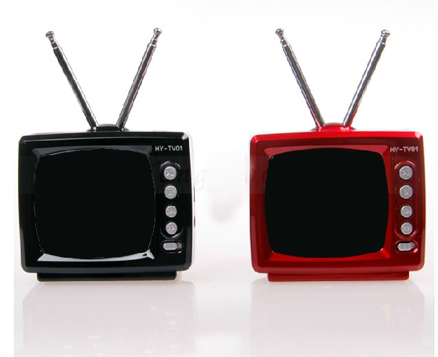 vintage tv portable mini speaker card usb flash drive audio radio inspeakers from consumer. Black Bedroom Furniture Sets. Home Design Ideas