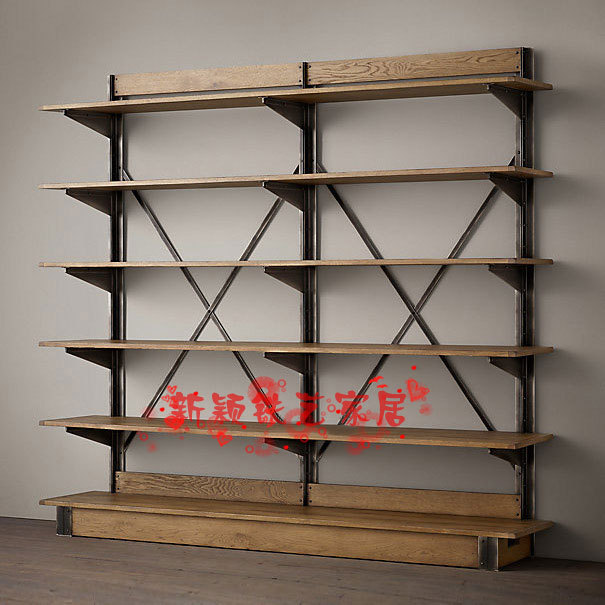 do the old retro style wrought iron shelf wood bookcase loft vintage wrought iron ladder. Black Bedroom Furniture Sets. Home Design Ideas