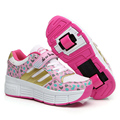LED Lights Children Heelys summer Breathable Roller Skates Shoes with two Wheels Kids Sneakers for Boy