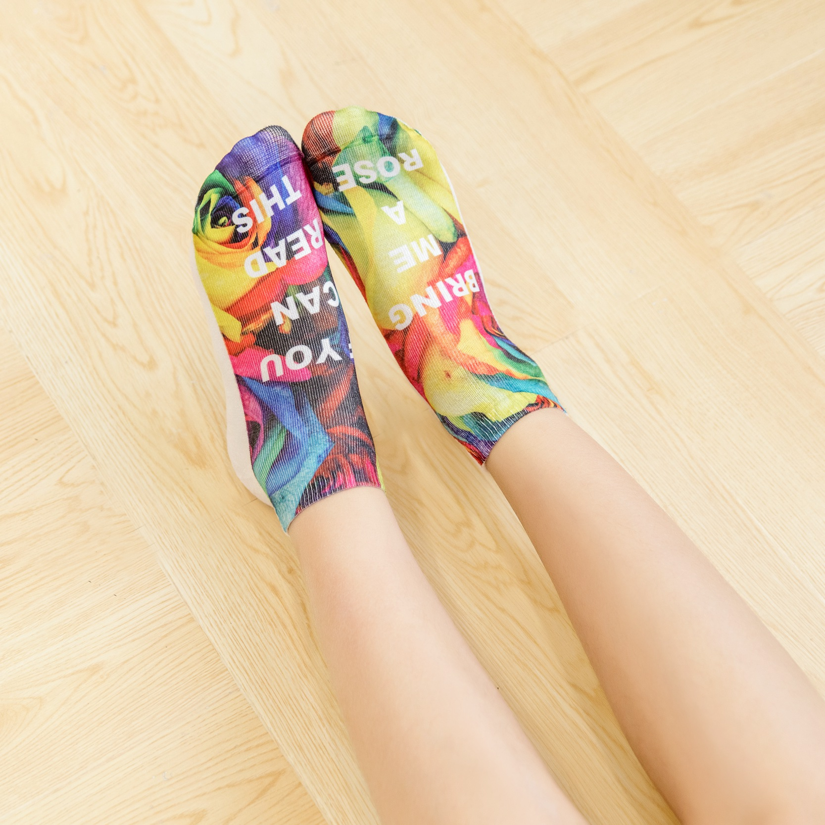 IF YOU CAN READ THIS Socks Women Funny White Low Cut Ankle Sock Hot Sale 2017 for Valentine Bring Me A Glass Of Wine
