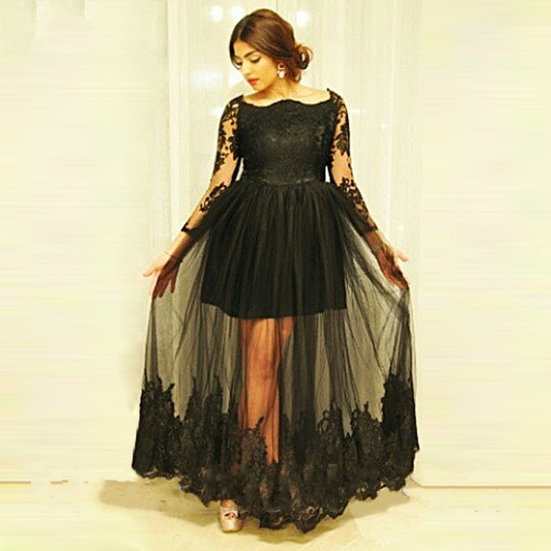 Aliexpress Com Buy Simple Elegant See Through Lace Part: Popular Masquerade Dresses For Prom-Buy Cheap Masquerade