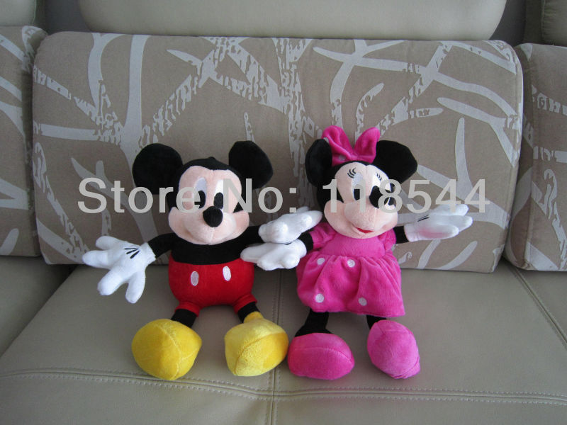 35cm Mickey Mouse Minnie Mouse Christmas Gifts Soft Toys