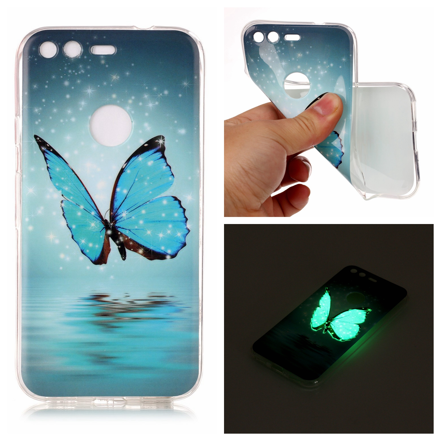 For Google Pixel Cover Case 5.0 Inch Luminous Soft Silicone TPU IMD Phone Back Cover Phone Cases For Google Pixel XL 5.5 Inch