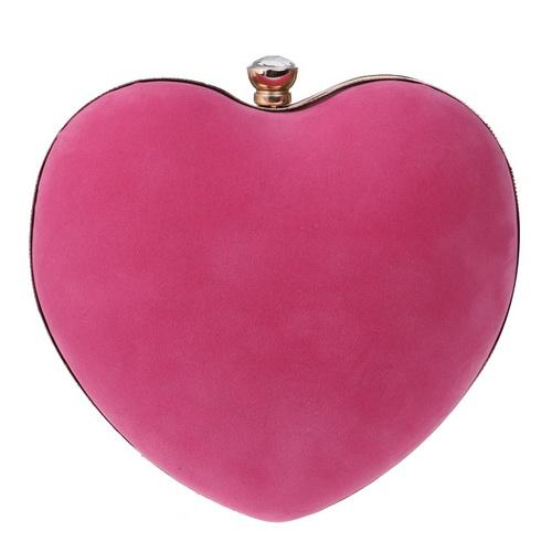 SEKUSA бархатные акриловые бриллианты в форме сердца красные/черные вечерние сумочки мини-кошелек клатч с цепочкой через плечо вечерняя сумка...(Китай)