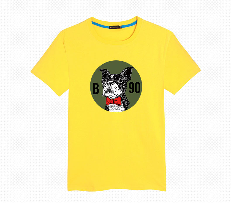 Men tee shirt tops male fashion animal puppy dog Shar Pei causal boys  streetwear loose plus size 6XL 5XL cartoon 1990 daily wear - us628 ce8ed21cdb