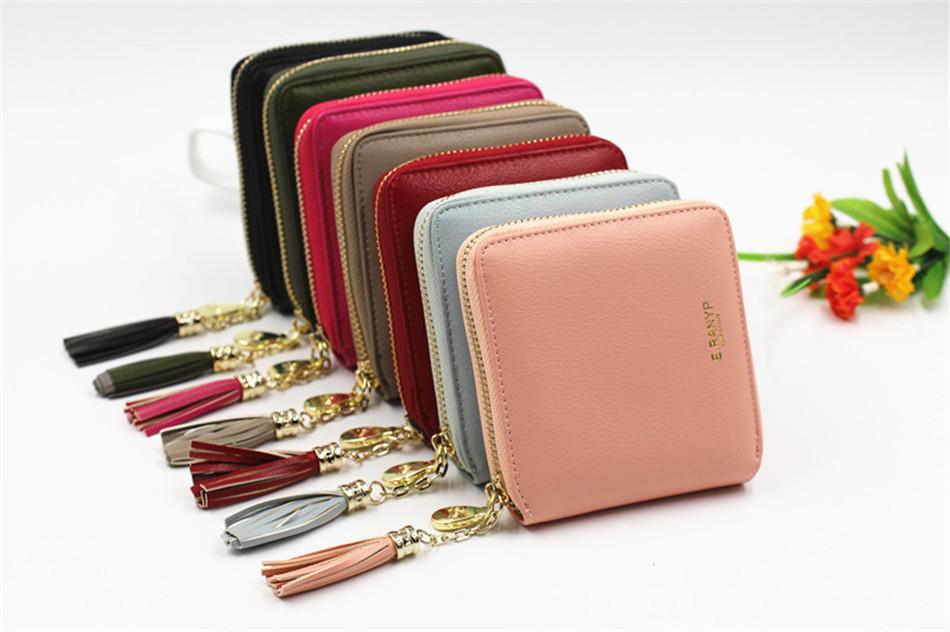 cbc9182750f8 Women Coin Purses Tassel Coin Bag Female Small Purse Leather Clutch Wallet  Ladies Mini Purse Card Holders Monederos Para Monedas. purse (6) ...