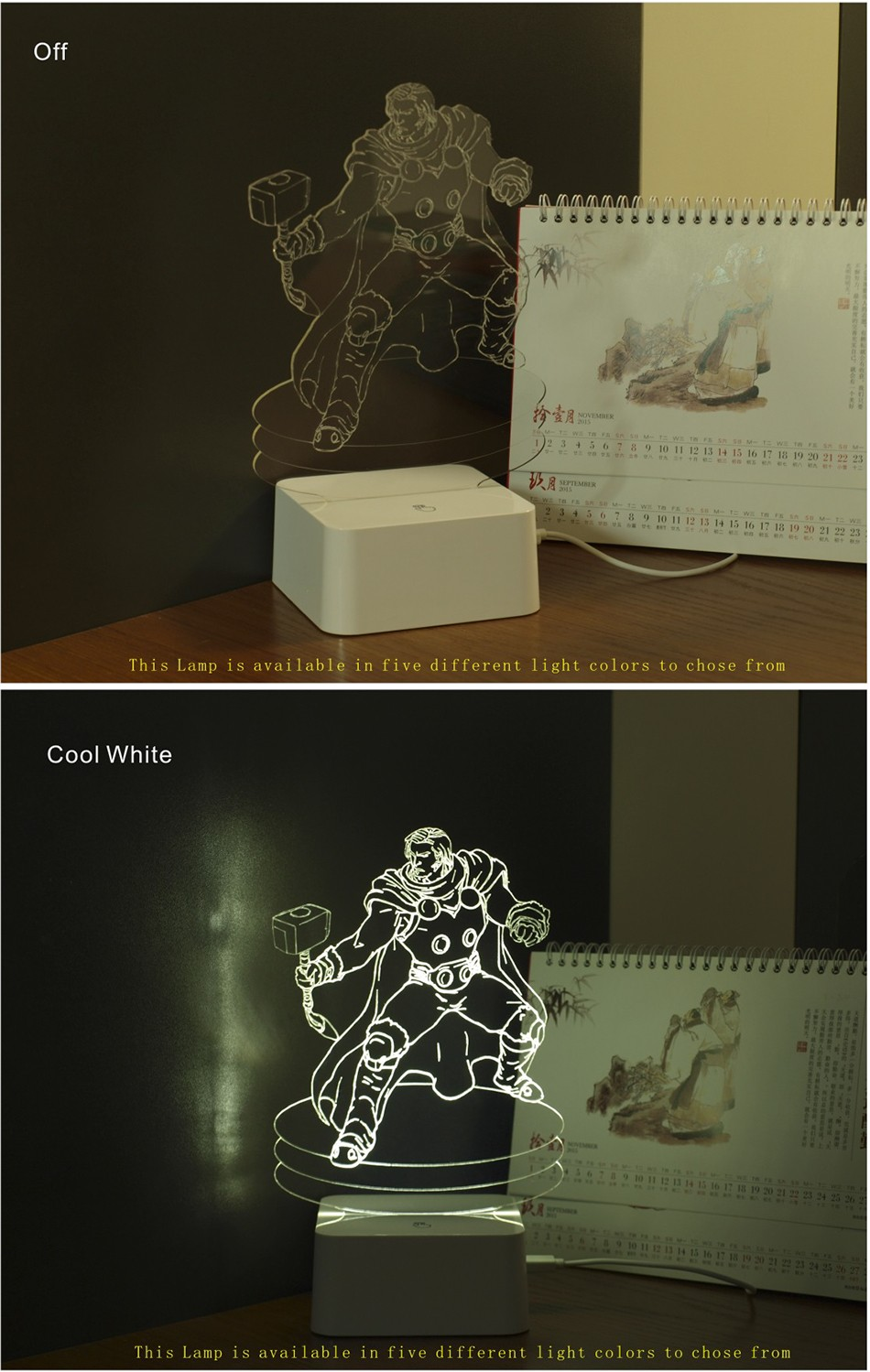 Christmas Xmas Holiday Gifts for Thor 3d Led Night Lights Touch Controller Table Lamps as Child Besides Lamp (3)