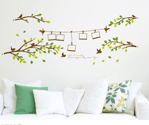 Photo tree removable wall stickers tree branch living room - Cheap wall decals for living room ...