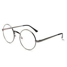 Новинка, унисекс, винтажные круглые очки для чтения, металлическая оправа, Ретро стиль, очки для колледжа, прозрачные линзы, оправа для очков(Китай)