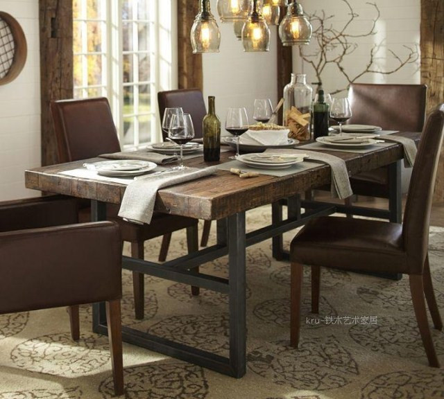 Wrought Iron Kitchen Table And Chairs: Nordic American Country Coffee Cafe Tables And Chairs