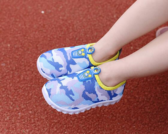 summer breathable children shoes boys girls shoes fashion cut outs kids sneakers casual boys girls camouflage