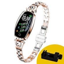 Модные Смарт-часы MNWT H8, женские цифровые часы 2020, водонепроницаемые часы с пульсометром и Bluetooth для Android и IOS(Китай)