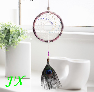 Delicate Home Decor Indian Style Dream Catcher Home Decor Peacock Feather Pendant Dreamcatcher Ring Well Haning Dream Catchers