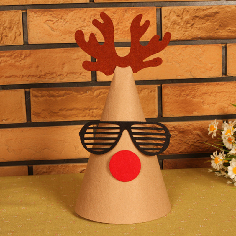 Fashion Rudolph Christmas Crafts Enfeites De Natal Deer Hats Articulos De Navidad DIY Merry Christmas Home Decor