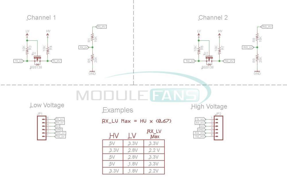 Aliexpress Com Buy Two Channel Iic I2c Logic Level