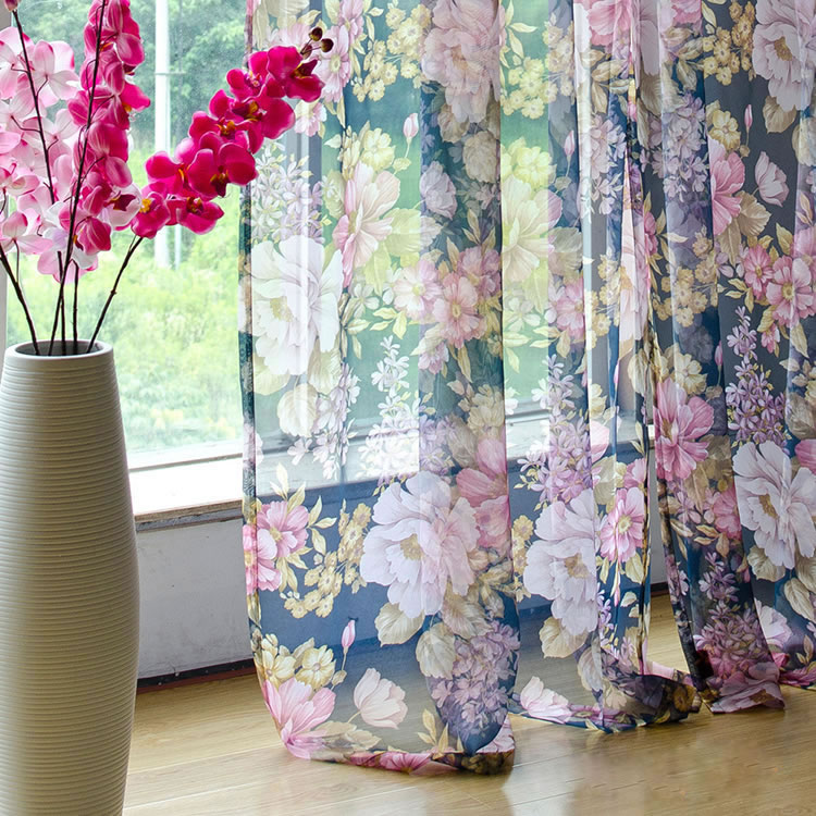 Hot Sale Luxury Tulle Curtains For Living Room Cheap Voile