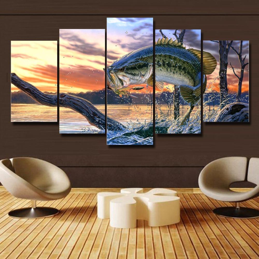 Fishing Home Decor: Popular Bass Fishing Paintings-Buy Cheap Bass Fishing