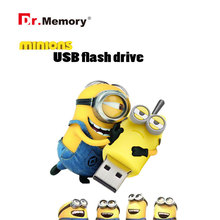 100% real capacity minions pen drive 3 model USB flash drive cartoon usb stick 16g/8g/4g/2g flash memory stick flash card