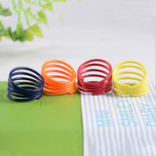 Europe helical spring fluorescent color candy color fine jewelry wholesale rings ring