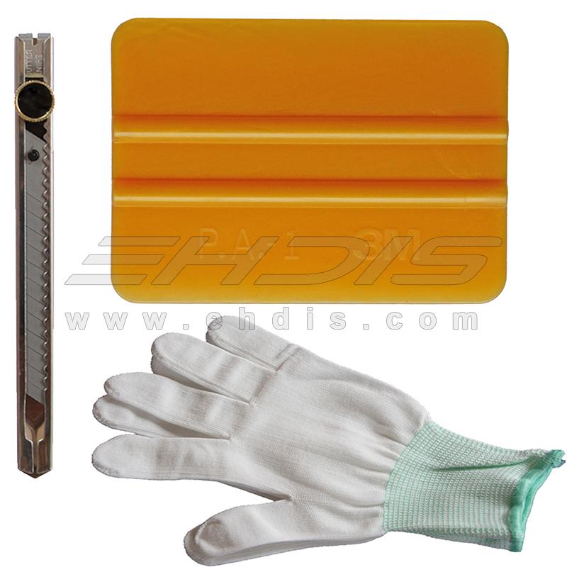Авто упаковка tool kit 3 м золото почувствовал, ракеля с винила и установке перчатки