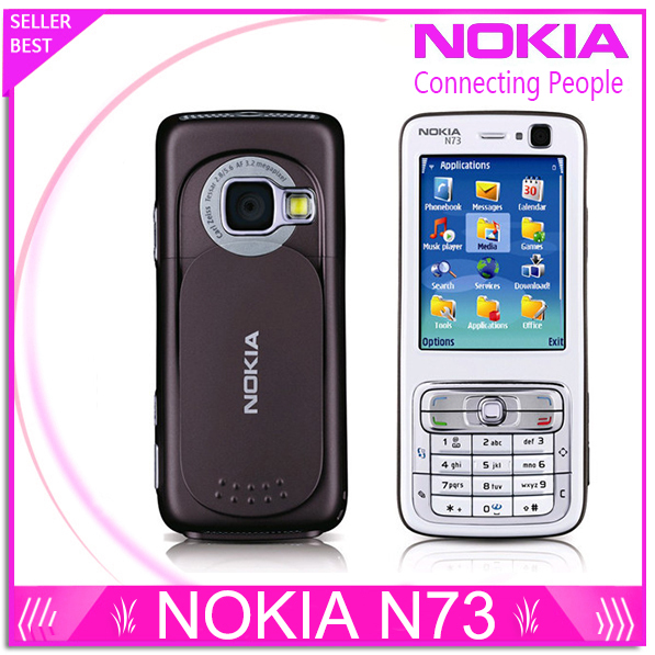 Refurbished Unlocked Nokia N73 Mobile Phone GSM 3G Bluetooth 3.15MP camera FM radio MP3 player Free Shipping