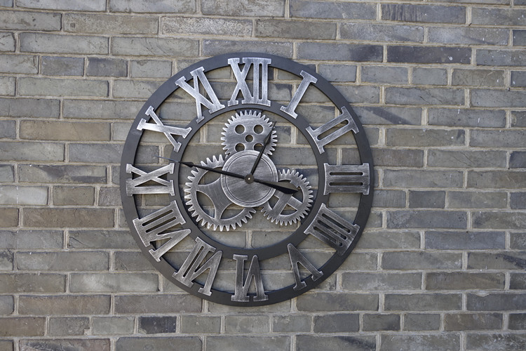 Wholesale Oversized Vintage Wall Clock 3d Gear Wall Clocks