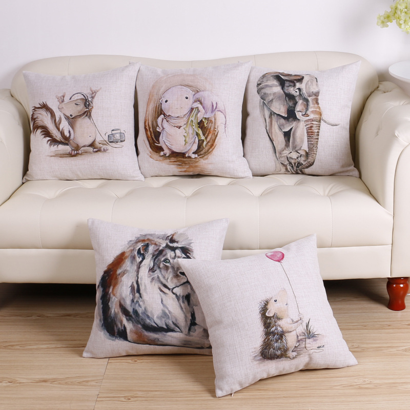 45cm Singing Squirrel Fashion Cotton Linen Fabric Throw Pillow Hot Sale 18 Inch New Home Decor Sofa Car Cushion Office Nap FR
