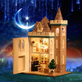Handmade Doll House Diy miniature Wooden Dollhouse miniaturas Furniture House Doll Toys For Children Birthday Gift