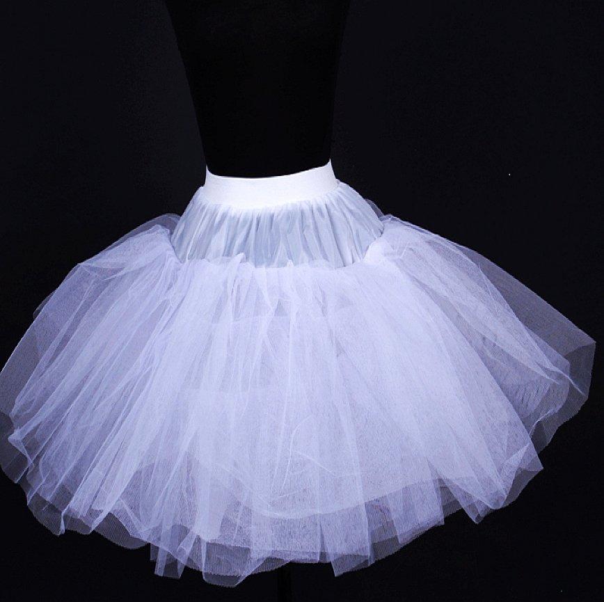 Ballet boneless short skirt evening dress petticoat ...