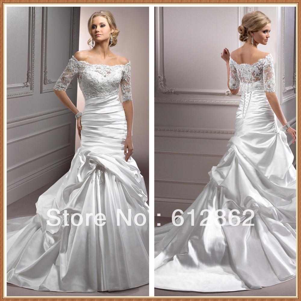 Elegant Strapless Satin Dress With Detachable Off Shoulder