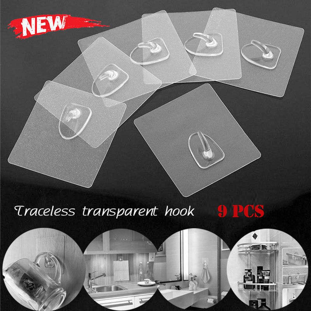 Прозрачные крепкие самоклеющиеся вешалки на стену для дверей, держатель для полотенец, крючки, подвесные кухонные аксессуары для ванной ко...(Китай)
