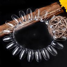 20 шт. УФ-гель для ногтей цветные накладные ногти дисплей накладные ногти дизайн ногтей прозрачный белый пряжка кольцо Маникюрный Инструмен...(Китай)