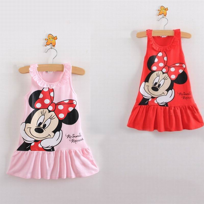 New 2015 Girl Dress Baby Girls Vest Dress Cotton Girl Clothing Hollow Pocket Bag Hip Baby