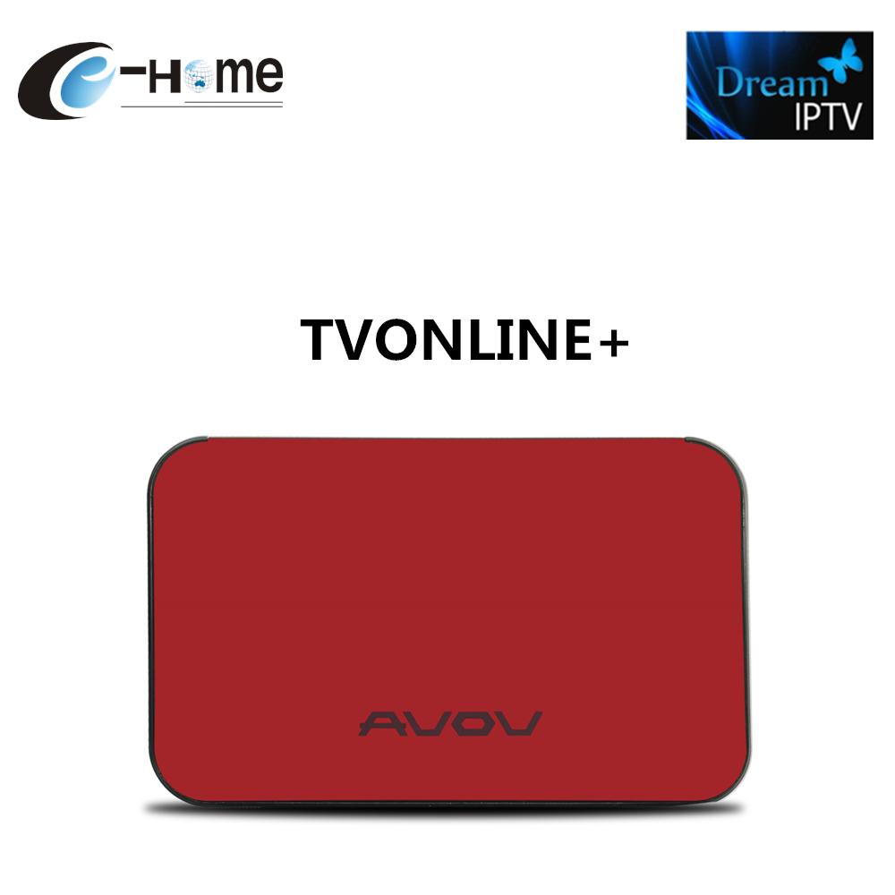 AVOV TVOnline + Android tv Box Con Sueño IPTV IPTV Árabe