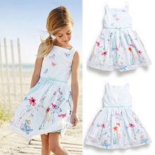 2015 Baby Girls Kids Princess Flower Sleeveless Summer Gown font b Fancy b font font b