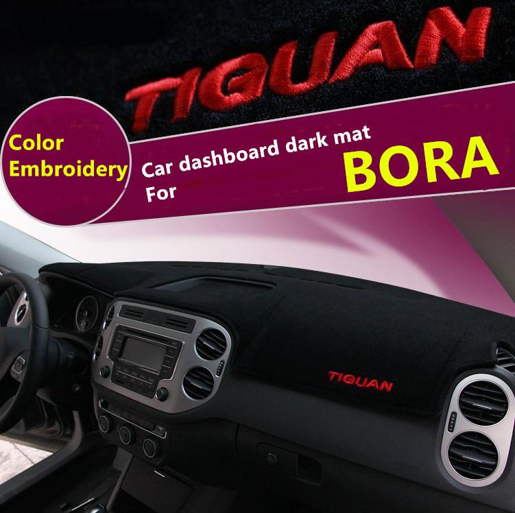 B O R A цвет вышивка Анти-грязный коврик приборной панели Автомобиля предотвращение УФ антибликовое Бесплатная доставка Чистый черный темно коврик быстро воздух