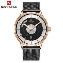 NAVIFORCE мужские часы лучший бренд класса люкс мужские повседневные деловые часы Модные Аналоговые кварцевые наручные часы с отображением дат...(Китай)