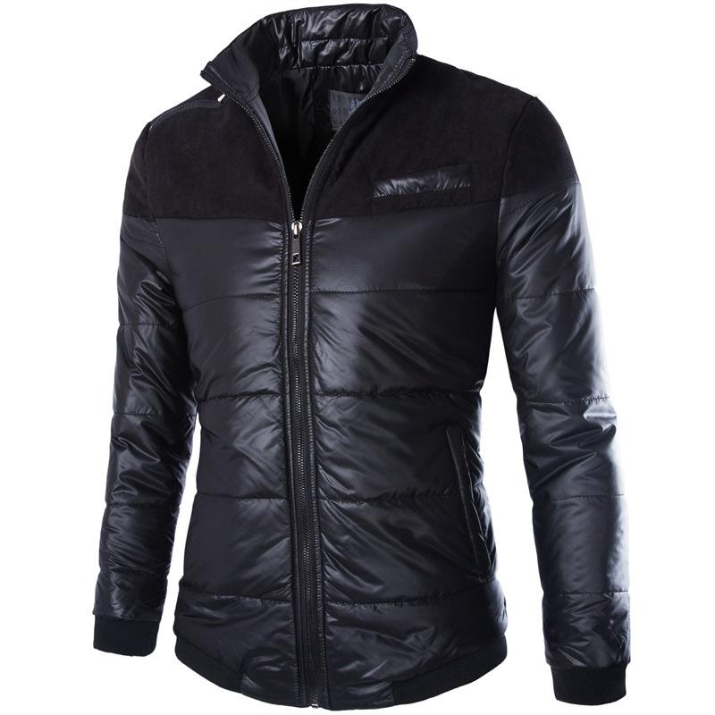 Cool Design Winter Jacket Men 2016 New Fashion Black Mens